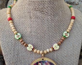Idunna Devotional Necklace (Norse Asatru Heathen Viking Goddess Youth)