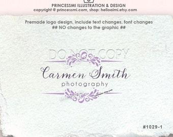 1029-1 Damask logo , Scrolls logo,  photography, business, boutique ,  logo custom logo design, watermark