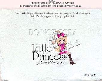1265-2 lady logo, Custom Premade Logo Design, sketch hand drawn girl fashion lady logo photography logo, blogger logo
