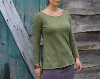 Boatneck Top-Organic Cotton and Hemp