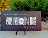 Personalized Wedding Gift, Wedding and Reception Signs, Housewarming Gift, Wedding Ceremony Decor, Gallery wrapped Canvas