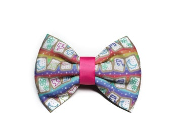 SALE Kawaii Poptart Ribbon Hair Bow Clip OOAK