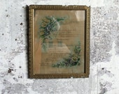 Vintage Wooden and Plaster Frame with Glass