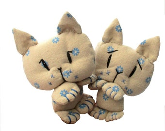 "Coorie Kitten 4"" soft toy cat sewing pattern"