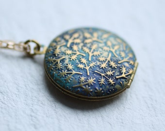 Peacock Leaf Locket ... Handpainted Personalised Message Surprise Gift