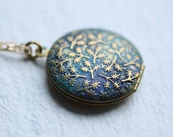 Leaf Locket ... Peacock Handpainted Personalised Message Proposal Surprise Gift