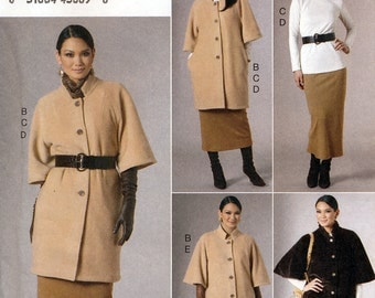 Vogue V8678 Sewing Pattern for Misses' Jacket, Top, Skirt and Pants - Uncut - Size 8, 10, 12, 14