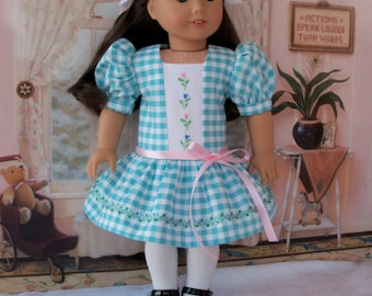 "End of Summer SALE! Samantha's Summer  Embroidered Dress /  Clothes for American Girl Samantha, Maryellen, Kit or other 18""  Dolls"