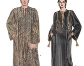 Vogue 8474 Unisex 80s Caftan Sewing Pattern Chest Bust 30 to 48