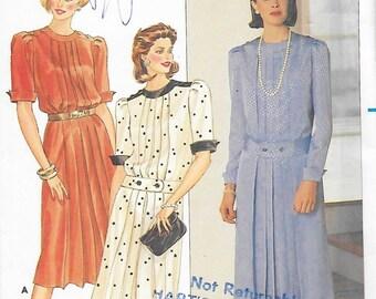 Butterick 6682 Women's A-Line 70s Dress Sewing Pattern Size 14 Bust 36