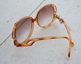 1980s Oversize Tortoiseshell Sunglasses
