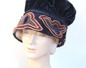 SOLD // Final payment listing for J / antique velvet handmade hat