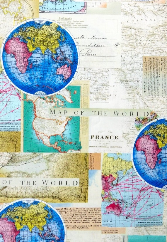 Map fabric world map travel fabric 100 cotton for quilting and map fabric world map travel fabric 100 cotton for quilting and general sewing projects from romiwstudio on etsy studio gumiabroncs Gallery