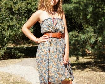 1990's Cotton Gauze Gypsy Skirt Dress
