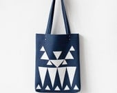 2015 CLEARANCE SALE Geometric Applique Blue Tote bag No.TLA- 1001  boho gypsy tribal