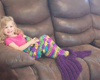 Mermaid blanket crochet pattern, mermaid tail pattern, child mermaid tail, crochet pattern for mermaid tail blanket, adult mermaid pattern