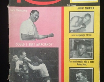 The Ring Vintage Boxing Magazine Featuring Jack Dempsey Rocky Marciano 1956