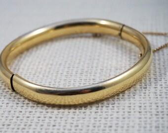 Vintage Ballou 12K Gold Filled Bangle Bracelet