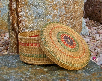 Vintage Chinese Basket Hand Woven Sewing Basket Chinese Decor Sewing Room Vintage 1940s