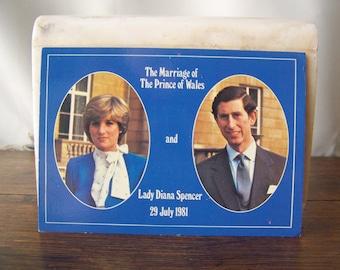 Vintage Postcard Royal Couple Marriage of Prince of Wales Lady Diana Spencer 1981 England Britain Prince Charles Princess Diana