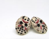 Jason Mask Earrings - Friday The 13th 1980s Pop Culture Apparel