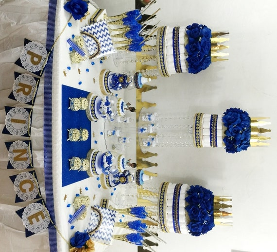 Royal Prince Candy Buffet Diaper Cake By PlatinumDiaperCakes