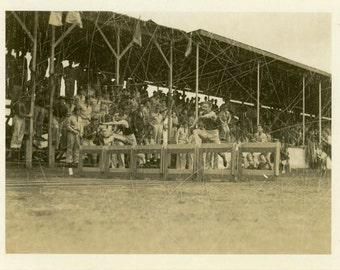 "Vintage Photo ""The Forgotten Race"" Track Running Hurdles Snapshot Old Photo Black & White Photograph Found Paper Ephemera Vernacular - 118"