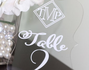 Acrylic/Vinyl Table Numbers