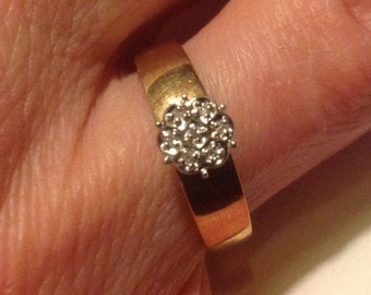 10K gold diamond cluster ring              VJSE