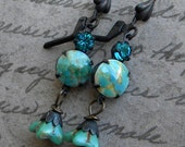 Turquoise Drop Earrings, Turquoise Drops, Turquoise Earrings