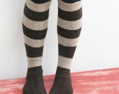 Women's slipper socks made from recycled wool sweaters sz 8/9