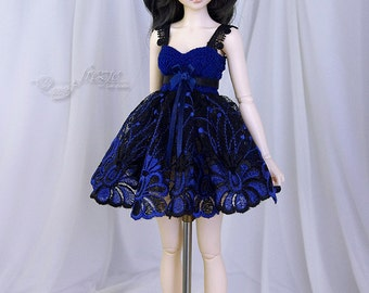 Navy blue & black dress for MSD