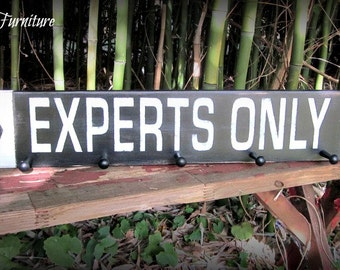 EXPERTS ONLY~Distressed~Goggle Helmet Ski Pole Coat Hanger~Towel Rack~Ski Rack~double diamond