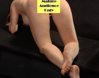 6974-AMG Mature Woman Art Model Rear View MILF Exploring Her Power Erotic Fine Art Nude Photograph signed Chris Maher