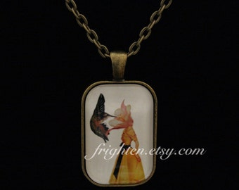 Petite Pendant Necklace, Mother's Day Gift, Nature Jewelry, Hummingbird Necklace, Wearable Art