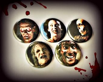 "Evil Dead 2 Dead By Dawn - 1"" Button Choose Your Own"