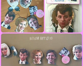 Pretty In Pink - 80's Garland Banner