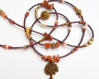 Goldstone Tree Of Life Waistbeads, Belly Beads, Belly Chain