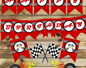 Race Car Banner,Racing cars party banner,  Race Car party favors, Race Car banners, Cars banner, NASCAR formula one theme