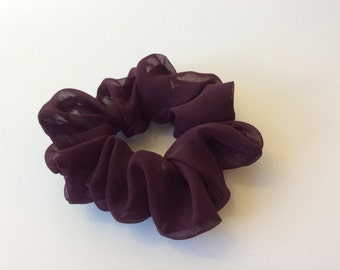 Dark Purple - Handmade Scrunchie