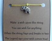 ELEPHANT #5 WISH STRING Bracelet Charm Band Cord Color Choice Friendship Bracelet