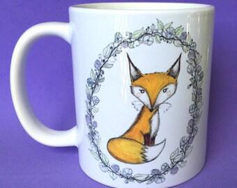 Fox Mug - fox mugs - fox coffee mugs - cute fox - coffee cup - fox art - for fox sake - fox gift - gifts for her