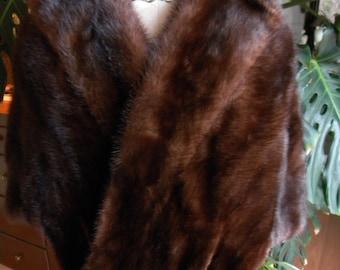Dark lush mink fur cape / stole/ wrap