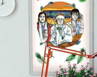 Wes Anderson: The Darjeeling Limited - Are Those Dad's Glasses'? A4 Print