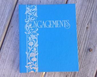 Vintage Day Planner Engagement Address Book