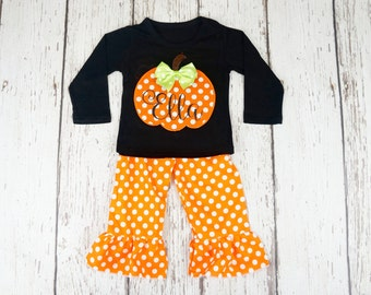 baby girl halloween outfit baby first halloween my first halloween girl pumpkin outfit - Halloween My Picture