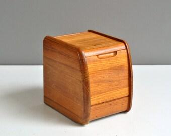 Vintage Teak Canister Box