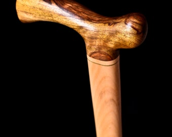 Walking Cane - Caribbean Rosewood, Brass, Maple