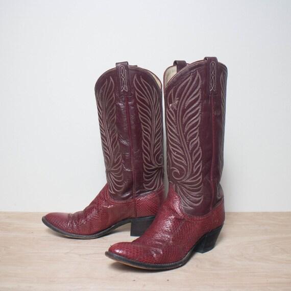 8 5 c s dan post snakeskin western boots in