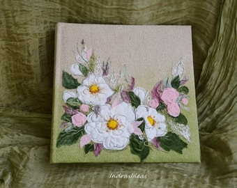 Large photo album with embroidered flowers, Embroidered  Photo album, Wedding photo album, white green wedding, white green wedding flowers